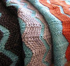 The Walt Painted Chevron Baby Blanket, free pattern by Danielle Romanetti