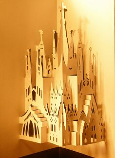 Sagrada Familia, kirigami by janularry
