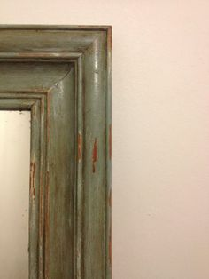 After pic, detailed distressed hand painted mirror given 'French Country House' look ~ PICTURE FOR REFERENCE ONLY