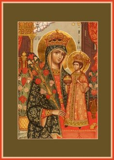 """Mother of God """"Unfading Flower"""" Orthodox Icon Queen Of Heaven, Religious Paintings, Russian Orthodox, Madonna And Child, Holy Family, Orthodox Icons, Christian Art, Our Lady, Byzantine"""