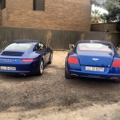 Which would you prefer to see on your drive out of these two? Porsche vs Bentley??