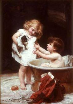 """His Turn Next"" -- by Frederick Morgan (1847 – 1927, English)"