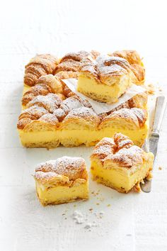 Easy Desserts, Delicious Desserts, Yummy Food, Custard Desserts, Baking Desserts, Baking Recipes, Cake Recipes, Dessert Recipes, Custard Slice