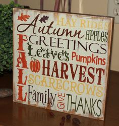 FALL Sign/Autumn/Typography/Fall Decoration