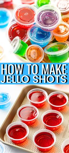 This is the Ultimate Guide for How To Make Jello Shots where I'll share tips, id. This is the Ultimate Guide for How To Make Jello Shots where I'll share tips, ideas, and some of my favorite recipes for your next party! Cherry Jello Shots, Best Jello Shots, Making Jello Shots, Champagne Jello Shots, Jello Shots With Vodka, Party Shots Alcohol, Easy Fruity Cocktails, Easy Alcoholic Drinks, Yummy Drinks