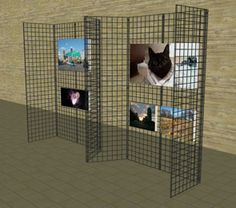Display wire For Crafts Booths | Gridwall Mall Kiosk Display Wall - Portable Display Wall - Pop Up ...
