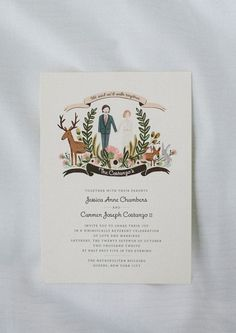 Rifle Paper Co wedding invitations // photo by Redfield Photography: