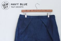 DIY Navy Blue Tap Shorts