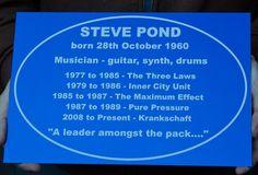 Blue anodised aluminium plaque. Unusual memorial plaque. www.sign-maker.net/memorial/anodised-aluminium.htm