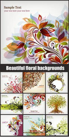 Vector Floral Backgrounds 2
