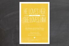 Quite Simply Wedding Invitations by robin ott design at minted.com
