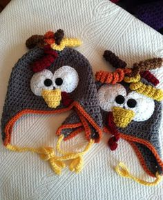 Turkey Earflap Hat free crochet pattern - 10 Free Crochet Turkey Patterns