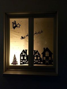 Discover recipes, home ideas, style inspiration and other ideas to try. Christmas Window Decorations, Christmas Window Display, Christmas Windows, Waldorf Crafts, Advent Calenders, Pin Collection, Diy And Crafts, Xmas, Christmas Ideas