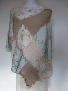 """Capes & Ponchos - Poncho """"FlowerSilk"""" - ein Designerstück von AutumnFlowers bei DaWanda"""