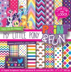 MY LITTLE PONY Digital Paper Patterns Background by Printnfun, €3.00  https://www.etsy.com/listing/184582493/my-little-pony-digital-paper-patterns?ref=sr_gallery_35&ga_order=date_desc&ga_view_type=gallery&ga_ref=fp_recent_more&ga_page=94&ga_search_type=all