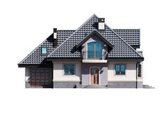 DOM.PL™ - Projekt domu DM Śnieżka K CE - DOM GM2-59 - gotowy koszt budowy Civil Construction, Home Fashion, House Plans, Floor Plans, House Design, Cabin, Flooring, How To Plan, Mansions