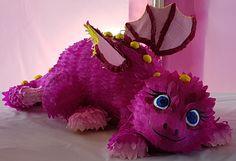 Dragon piñata made for a 1st birthday