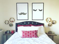 Mr And Mrs Lashes Moustaches Print, Her Poster, Bedroom Decor, Wall Decor,  Minimal Print, Fashion Print, Wall Decor For Couple, Bedroom Art