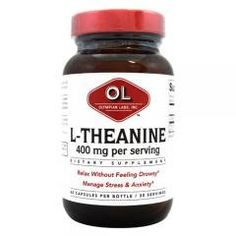 Olympian Labs L-Theanine - 400 mg - 60 Vegetarian Capsules