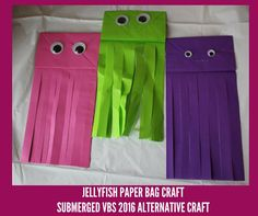 Jellyfish Paper Bag Craft - Submerged VBS 2016