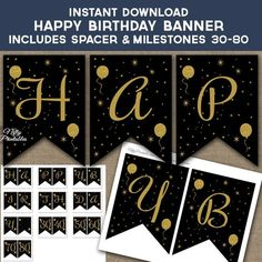 free printable happy new year banner letters baby showers new