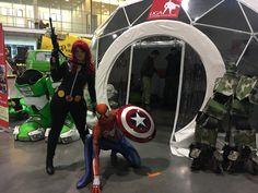 Black Widow and Spiderman