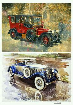 Vw Vintage, Vintage Labels, Vintage Images, Vintage Prints, Vintage Posters, Vintage Antiques, Antique Cars, Decoupage Vintage, Decoupage Paper