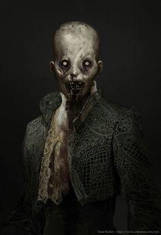 ArtStation - Queen of Spades, Daria Rashev Arte Horror, Horror Art, Gothic Horror, Dark Fantasy Art, Fantasy Rpg, Vampire Masquerade, Queen Of Spades, Call Of Cthulhu, World Of Darkness