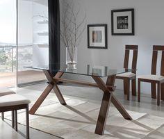 10 mejores imágenes de Mesa de cristal y patas madera | Glass tables ...