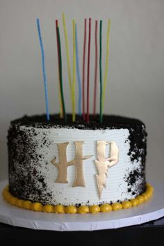 Check out the fun birthday cake at this  Harry Potter Birthday Party! See more party ideas and share yours at CatchMyParty.com