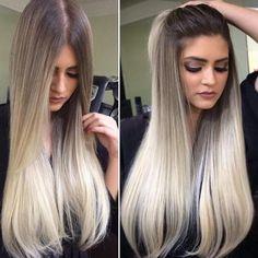 Image result for platinum hair on dark skin balayage