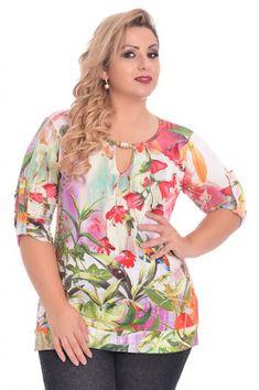 Blusas plus size. blusas plus size blusa estampada para gorditas, vestido estampado Curvy Fashion, Plus Size Fashion, Womens Fashion, Classy Fashion, Fashion Tips, Mode Plus, Plus Size Kleidung, Plus Size Women, Blouse Designs