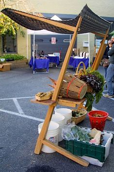 Portable farmer's market stand | MAKE