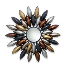 Decorative Metal Art Wall Mirror - Petals  $49.99
