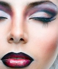 plum/purple wedding makeup | this neon look is great for certain themes and uses