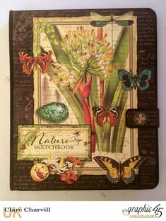 Nature Sketchbook ' Things to Do' Planner Clare Charvill Graphic 45