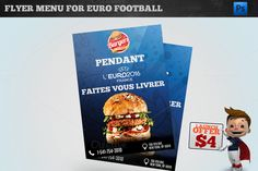 UEFA EURO 2016 - BURGER FLYER by @Graphicsauthor