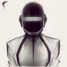 Daft Punk from Tron Art