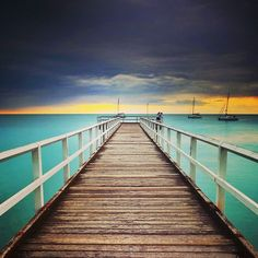 Ugangun Pier in Hervey Bay Image by @laurenepbath http://blog.queensland.com/2014/10/24/queensland-instagram-photo-bucket-list/ #thisisqueensland