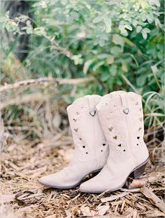 White cowboy boots.