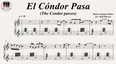 El Cóndor Pasa (The Condor passes) - Simon & Garfunkel, Piano https://youtu.be/6wF4m8pH50w