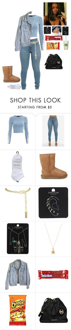 """""""Untitled #421"""" by bxbygirlslays ❤ liked on Polyvore featuring Topshop, Calvin Klein, UGG Australia, Dolce&Gabbana, Good Charma, American Apparel, River Island and MICHAEL Michael Kors"""