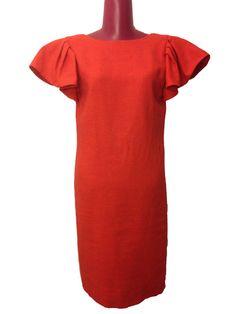 Vintage Designer Red Dress with Oversized Shoulders by DIYstylist, $29.99