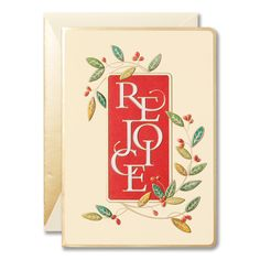 Playful lettering surrounded by festive sprigs of holly makes this holiday greeting card quintessentially Christmas. A gold border adds a refined touch. Boxed Christmas Cards, Holiday Greeting Cards, William Arthur, True Meaning Of Christmas, Holy Night, Silent Night, Your Cards, Festive, Finding Yourself