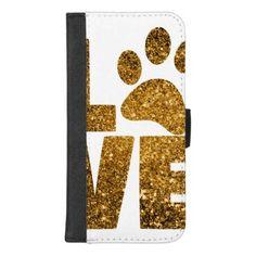 #Paw Love iPhone 8/7 Plus Wallet Case - #beagle #puppy #beagles #dog #dogs #pet #pets