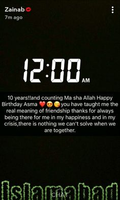 Birthday wishes ILY Zainab ❤. AsMa Mujeer Happy Birthday Wishes Bestfriend, Happy Birthday Best Friend Quotes, Birthday Greetings Quotes, Cute Birthday Wishes, Birthday Quotes For Me, Birthday Wishes Messages, Card Birthday, Birthday Ideas, Birthday Gifts