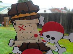 Cute Pirate cupcake toppers