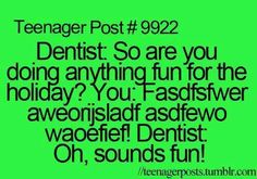 Omw I hate when they ask questions to u while they got stuff in your mouth, like seriously! :P lol