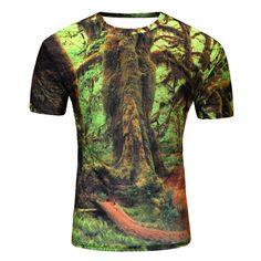 117f7455cc9d Brand New Summer Designer 3D Printed T Shirt Men S Short Sleeve Tshirt  Creative forest Men S T