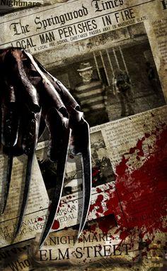 Freddy Krueger-A Nightmare On Elm Street. Slasher Movies, Horror Movie Characters, Horror Movie Posters, Horror Movies, Freddy Krueger, Robert Englund, Horror Icons, Horror Art, Kino Film